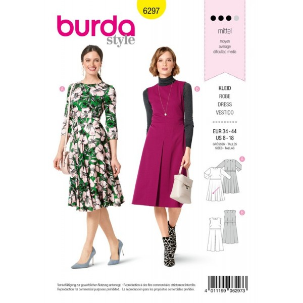Patron Burda 6297 - Robe