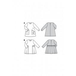 Patron Burda 9310 - Robe avec poches fille