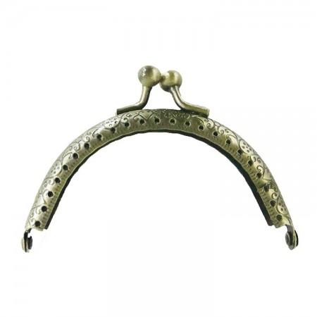 Fermoir porte monnaie bronze clair 9 cm