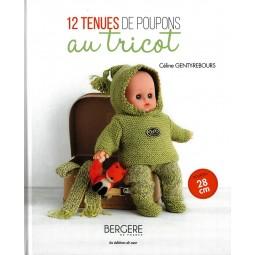 Livre : 12 tenues de poupons au tricot