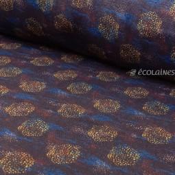 Tissu double gaze de coton Bio La Panda Love Fabrics - Hexagon dots navy