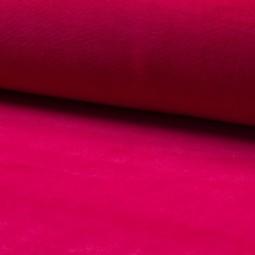 Tissu jersey velours Fuchsia