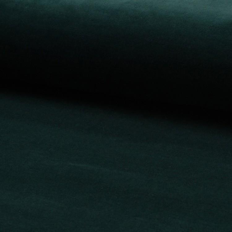 Tissu jersey velours Vert sapin
