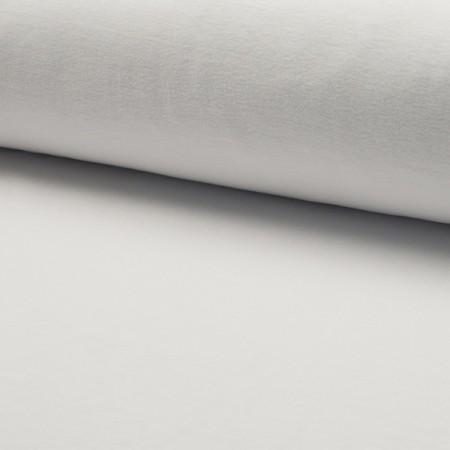 Tissu jersey velours Blanc