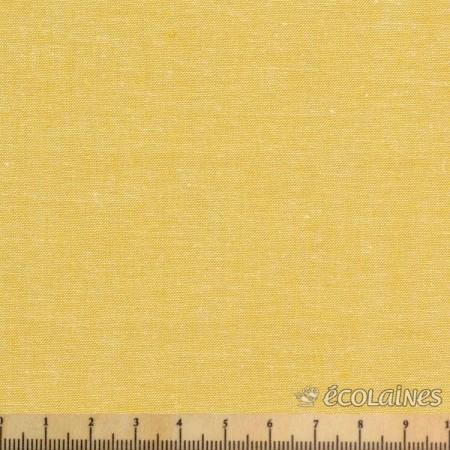 Tissu coton - Chambray jaune ocre