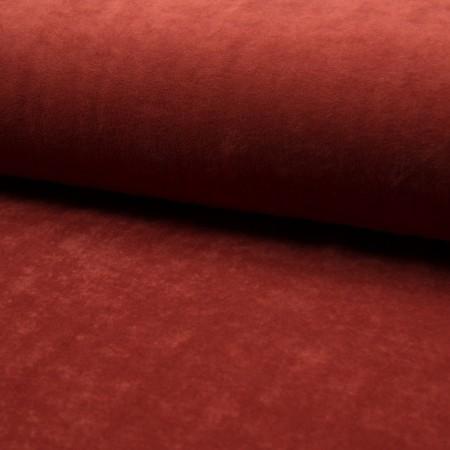 Tissu jersey velours Brique