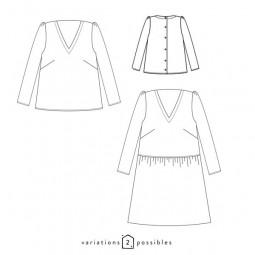 Zephir - Blouse ou robe - Patron atelier Scammit