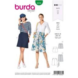Patron Burda 6235 - Jupes trapèze avec empiècement