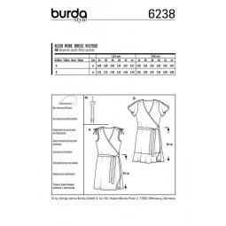 Patron Burda 6238 - Robe portefeuille épaules froncées