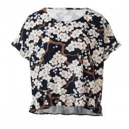 Patron Burda 6243 - T-shirt femme carré, avec ou sans volants