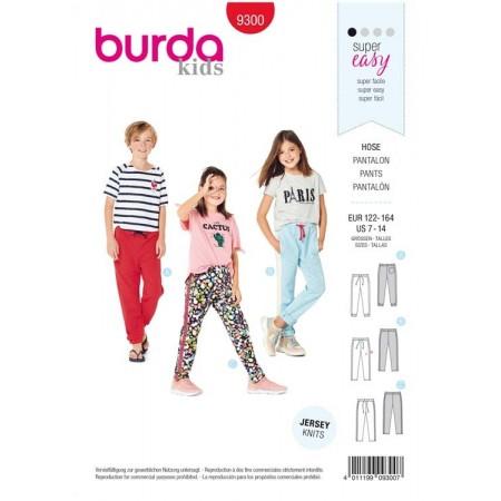 Patron Burda 9300 - Pantalon de jogging enfant à coulisse élastique