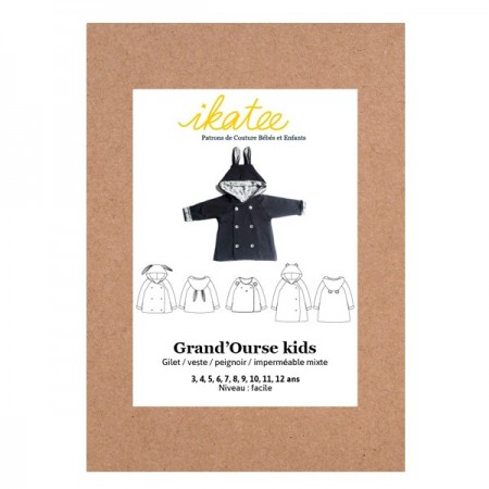 Patron Ikatee - Gilet Grand'ourse 3-12 ans