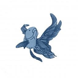 Écusson thermocollant - Carpe bleue