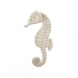 Écusson thermocollant - Hippocampe beige clair