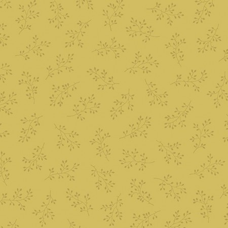 Tissu Edyta Sitar - Olive Branch - Or