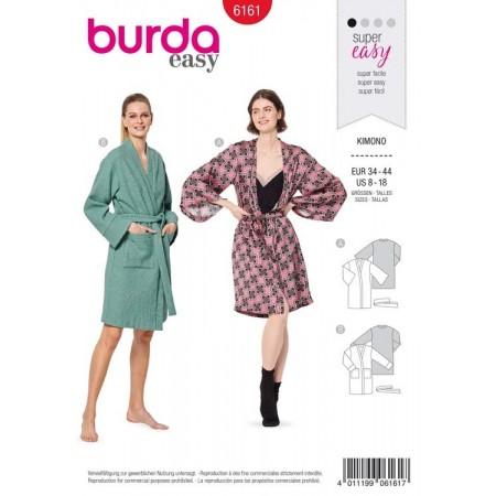Patron Burda 6161 - Kimono ou peignoir femme