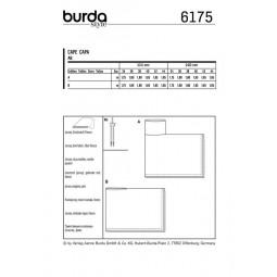 Patron Burda 6175 - Cape rectangulaire à col roulé