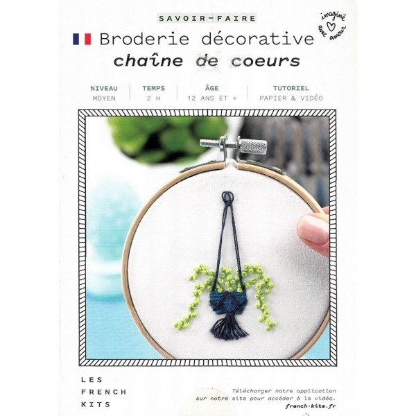 Les french kits - Kit broderie décorative - Chaîne de coeur