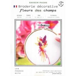 Les french kits - Kit broderie décorative - Fleurs des champs