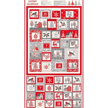 Tissu Noël - Scandi - Calendrier de l'avent