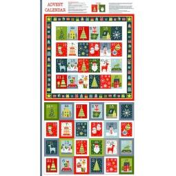 Tissu Noël - Joy - Calendrier de l'avent
