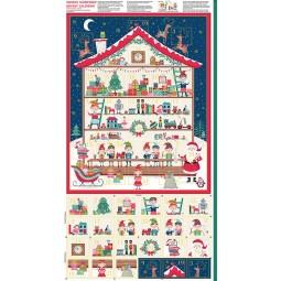 Tissu Noël - Let it snow - Calendrier de l'avent