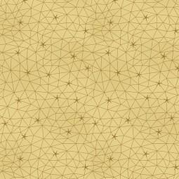 Tissu Noël - Amazing stars - Constellations dorées fond vanille