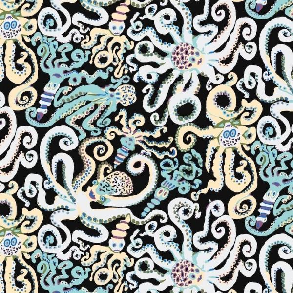 Tissu Kaffe Fassett - Octopus black