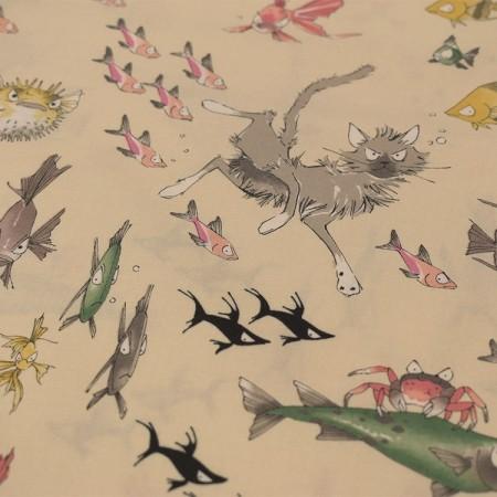 Alexander Henry Fabrics - A ghastlie dive beige clair