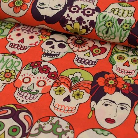 Alexander Henry Fabrics - Frida fond rouge