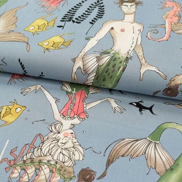 Alexander Henry Fabrics - Bal des sirènes bleu