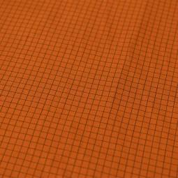 Tissu gabardine - Mini carreaux caramel
