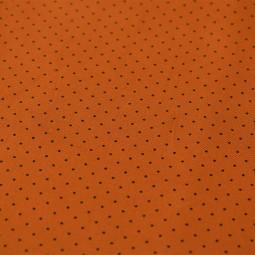 Tissu gabardine - Mini pois caramel