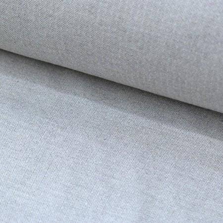 Tissu flanelle - Chevrons gris