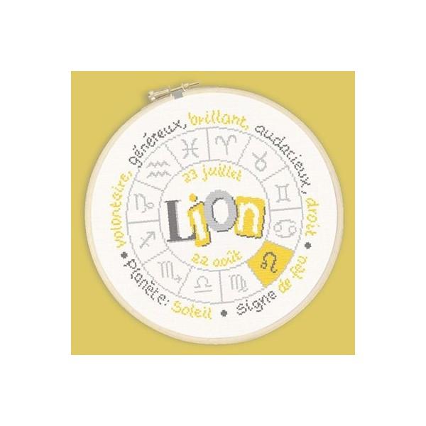Fiche de broderie Lilipoints : Zodiaque Lion