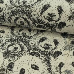 Tissu d'ameublement - Yuan noir