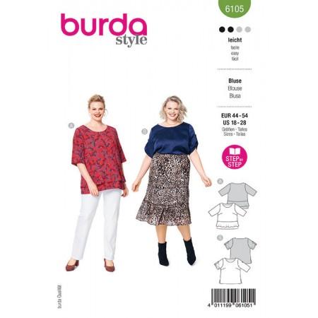 Patron Burda 6105 - Blouse façon T-shirt