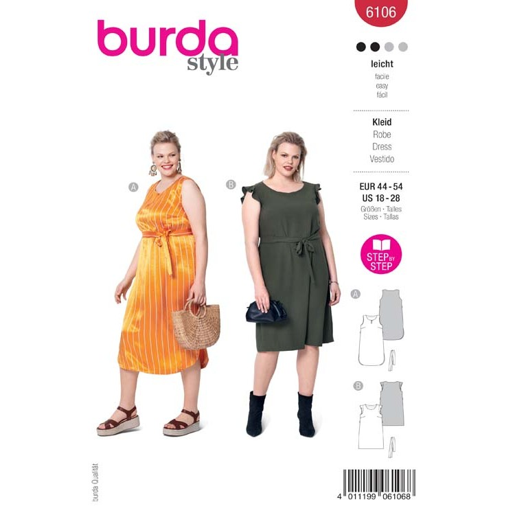 Patron Burda 6106 - Robe sans manches