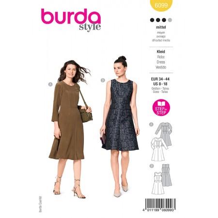 Patron Burda 6099 - Robe élégante