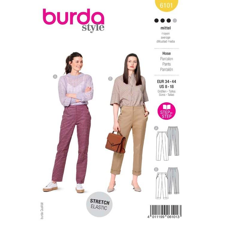 Patron Burda 6101 - Pantalon à plis permanents