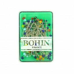 Épingles tête de verre assorties Bohin x 80