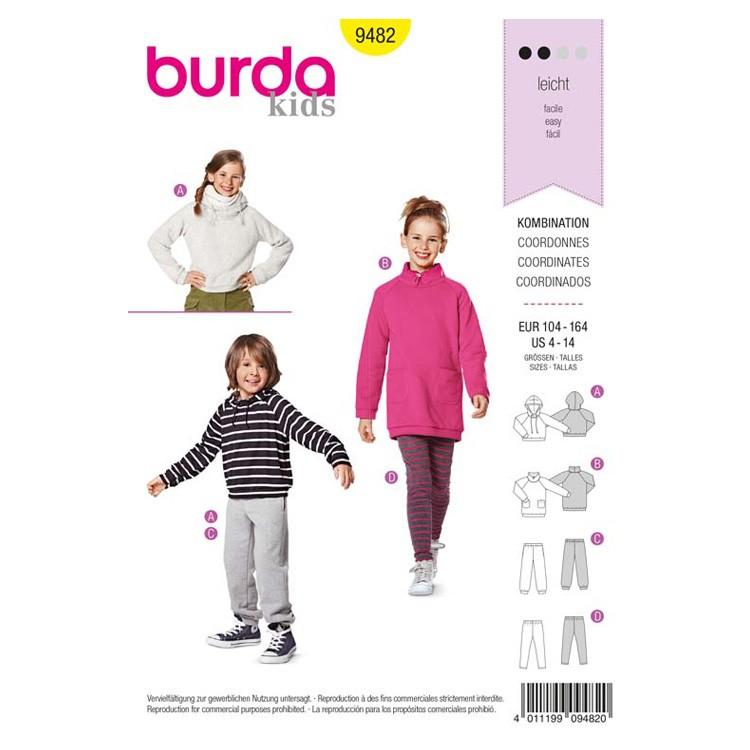 Patron Burda 9482 - Sweat et bas coordonnés