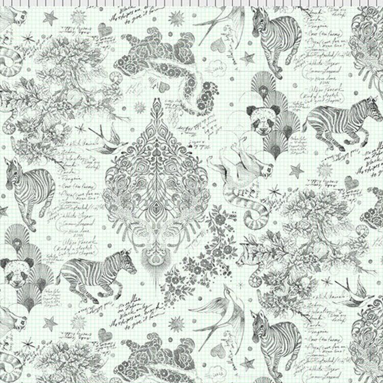 Tissu Tula Pink - Sketchy paper