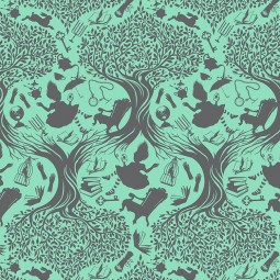 Tissu Tula Pink - Down the rabbit hole - Daydream