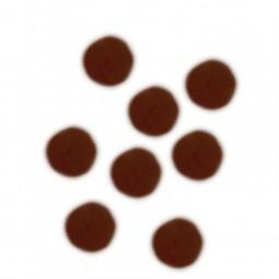 Lot de pompons effet fourrure 10 mm et 20 mm