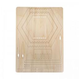 Kit 3 cadres de tissage hexagone en bois