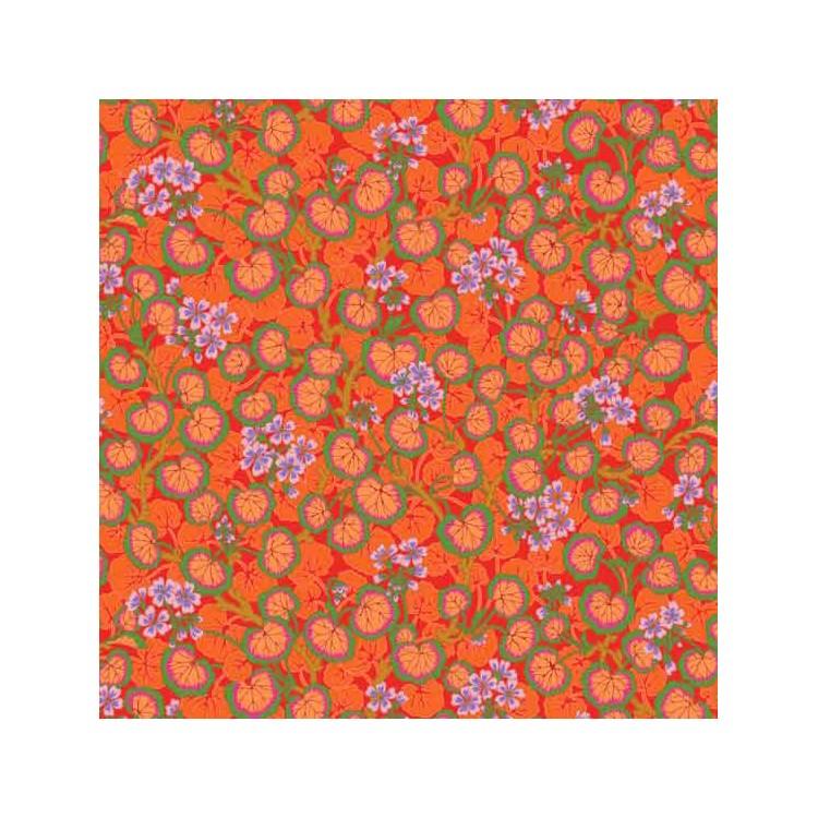 Tissu Kaffe Fassett - Climbing Geraniums Red