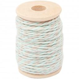 Bobine de fil coton bicolore