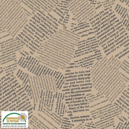 Tissu faux uni - Quilters combination - journal beige