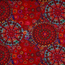 Tissu Kaffe Fassett -  GP92-RED Millefiore red